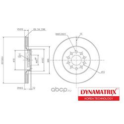 диск тормозной (DYNAMATRIX-KOREA) DBD1156