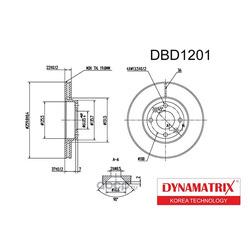 диск тормозной (DYNAMATRIX-KOREA) DBD1201
