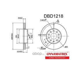 диск тормозной (DYNAMATRIX-KOREA) DBD1218