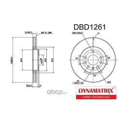 диск тормозной (DYNAMATRIX-KOREA) DBD1261