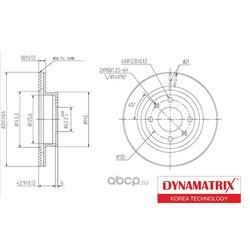 диск тормозной (DYNAMATRIX-KOREA) DBD1268