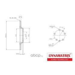 диск тормозной (DYNAMATRIX-KOREA) DBD1275