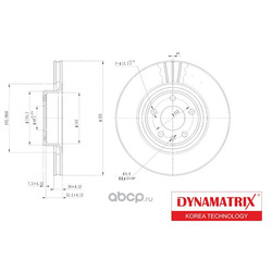 диск тормозной (DYNAMATRIX-KOREA) DBD1277
