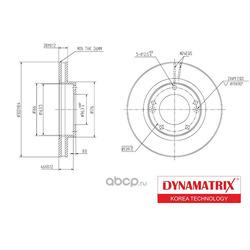 диск тормозной (DYNAMATRIX-KOREA) DBD1290