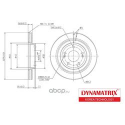 диск тормозной (DYNAMATRIX-KOREA) DBD1292