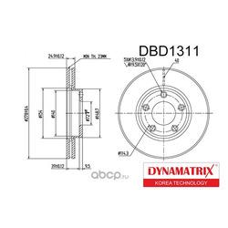 диск тормозной (DYNAMATRIX-KOREA) DBD1311