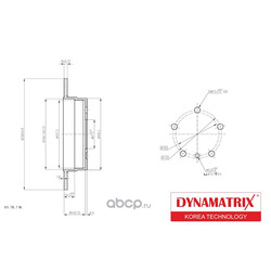 диск тормозной (DYNAMATRIX-KOREA) DBD1362