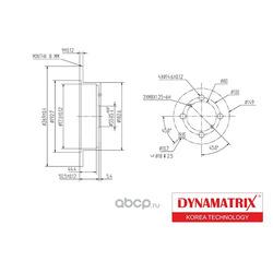 диск тормозной (DYNAMATRIX-KOREA) DBD1417