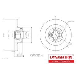 диск тормозной с подшипником (DYNAMATRIX-KOREA) DBD1443