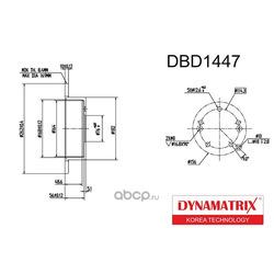 диск тормозной (DYNAMATRIX-KOREA) DBD1447