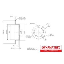 диск тормозной (DYNAMATRIX-KOREA) DBD1493
