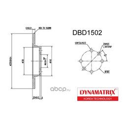 диск тормозной (DYNAMATRIX-KOREA) DBD1502