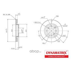 диск тормозной (DYNAMATRIX-KOREA) DBD1527