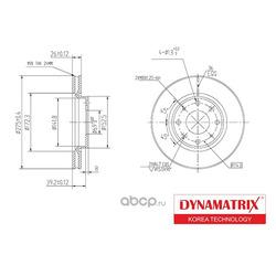 диск тормозной (DYNAMATRIX-KOREA) DBD1528