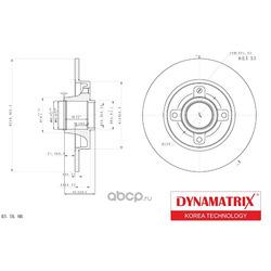 диск тормозной (DYNAMATRIX-KOREA) DBD1560