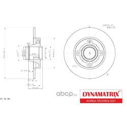 диск тормозной с подшипником (DYNAMATRIX-KOREA) DBD1564