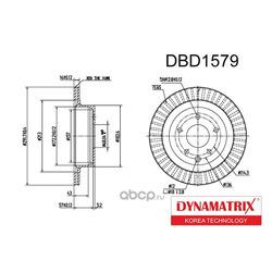диск тормозной (DYNAMATRIX-KOREA) DBD1579