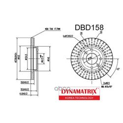 диск тормозной (DYNAMATRIX-KOREA) DBD158