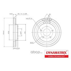 диск тормозной (DYNAMATRIX-KOREA) DBD1599