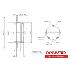 Тормозной диск (DYNAMATRIX-KOREA) DBD1618