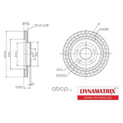 диск тормозной (DYNAMATRIX-KOREA) DBD1624