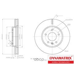 диск тормозной (DYNAMATRIX-KOREA) DBD1625