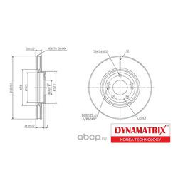 диск тормозной (DYNAMATRIX-KOREA) DBD1630