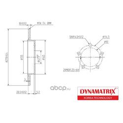 диск тормозной (DYNAMATRIX-KOREA) DBD1645