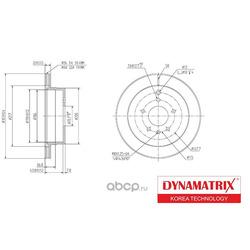 диск тормозной (DYNAMATRIX-KOREA) DBD1660