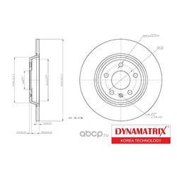 диск тормозной (DYNAMATRIX-KOREA) DBD1666