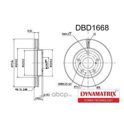 диск тормозной (DYNAMATRIX-KOREA) DBD1668