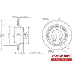 диск тормозной (DYNAMATRIX-KOREA) DBD1672