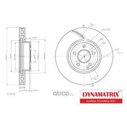 диск тормозной (DYNAMATRIX-KOREA) DBD1692