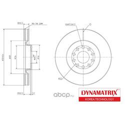диск тормозной (DYNAMATRIX-KOREA) DBD1705