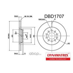 диск тормозной (DYNAMATRIX-KOREA) DBD1707