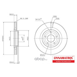 диск тормозной (DYNAMATRIX-KOREA) DBD1724