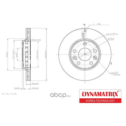диск тормозной (DYNAMATRIX-KOREA) DBD1728