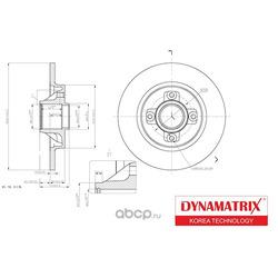 диск тормозной (DYNAMATRIX-KOREA) DBD1735