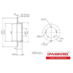 диск тормозной (DYNAMATRIX-KOREA) DBD1737