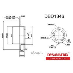 диск тормозной (DYNAMATRIX-KOREA) DBD1846
