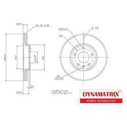 диск тормозной (DYNAMATRIX-KOREA) DBD1870