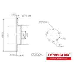 диск тормозной (DYNAMATRIX-KOREA) DBD1872