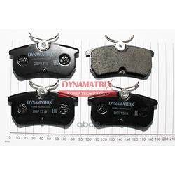 комплект колодок для дисковых тормозов (DYNAMATRIX-KOREA) DBP1319
