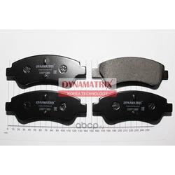 комплект колодок для дисковых тормозов (DYNAMATRIX-KOREA) DBP1399