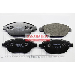 комплект колодок для дисковых тормозов (DYNAMATRIX-KOREA) DBP1476