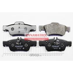 комплект колодок для дисковых тормозов (DYNAMATRIX-KOREA) DBP1526