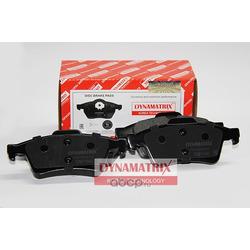 комплект колодок для дисковых тормозов (DYNAMATRIX-KOREA) DBP1540