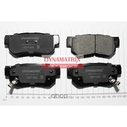 комплект колодок для дисковых тормозов (DYNAMATRIX-KOREA) DBP1606