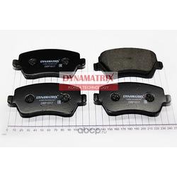 комплект колодок для дисковых тормозов (DYNAMATRIX-KOREA) DBP1617