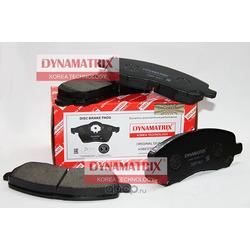 комплект колодок для дисковых тормозов (DYNAMATRIX-KOREA) DBP1621